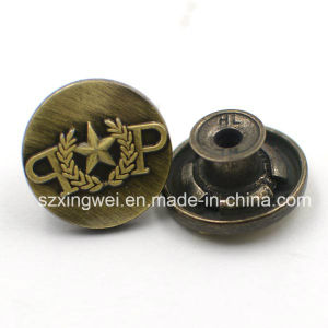 Designer Convex Logo Metal Jeans Button Garment Accessories pictures & photos