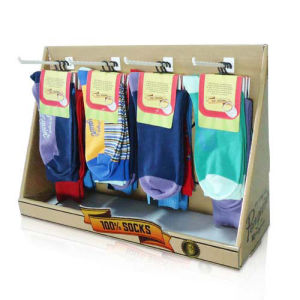 Peghooks Paper Counter Display Rack for Socks, Corrugated PDQ Counter Display pictures & photos
