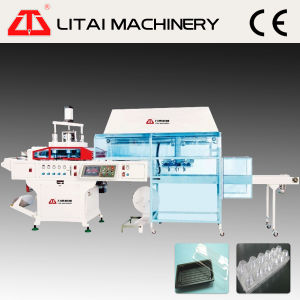 Automatic Air Pressure Plastic Tray Container Making Machine with Stacker pictures & photos