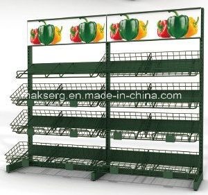 Backplane Supermaket Display Fruit Shelf Vegetable Wire Rack pictures & photos