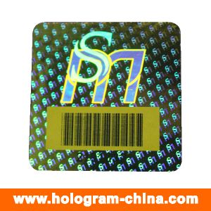 Security Anti-Counterfeiting Barcode Hologram Stickers pictures & photos