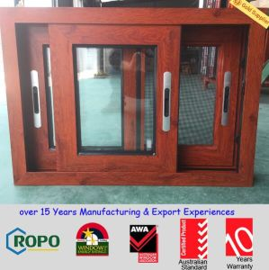 As2047 Standard Woodgrain Color Aluminum Frame Slide Sliding Window pictures & photos