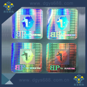 3D Laser Hologram Anti-Counterfeiting Sticker with Serial Number pictures & photos