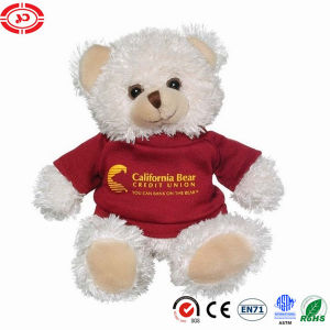 White Fluffy Teddy Bear Plush Sitting Custom Kids Gift Toy pictures & photos
