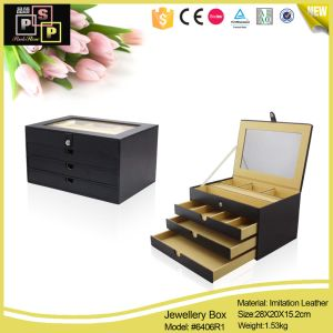 Classical China Supplier Imitation Leather Covered Cardboard Jewelry Box pictures & photos