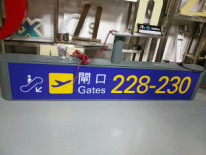 Airport Metro Subway Shopping Mall Supermarket Interior Indoor Primary Suspended Directional Digital Sign Entrance Exit Pylon Sign pictures & photos