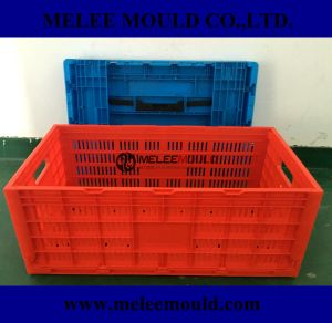Melee Plastic Stackable Foldable Crate Mold pictures & photos