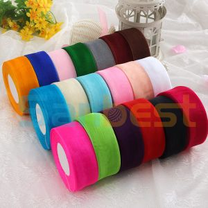 High Quality Dyed Nylon Organza Ribbon for Package pictures & photos