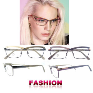 Latest Glasses Frames New Arrival Fashion Style New Metal Optical Frame Fashion Eyewear for Woman pictures & photos