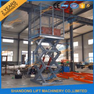 2.5m Hydraulic Fixed Electric Cargo Scissor Lift Platform pictures & photos