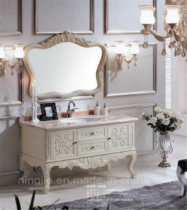 Classcial Luxury Solid Wood Oak Bathroom Vanity (ADS-606) pictures & photos