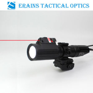 Tactical Professional Hunting 1000 Lumens CREE T6 LED Flashlight with Strobe Light Attached with Red Laser Sight pictures & photos