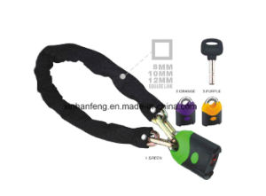 Muil-Function Bicycle Chain Lock for Mountain Bike with Keys (HLK-038) pictures & photos