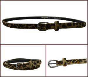 PU Fashion Leopard Print Lady′s Belt pictures & photos