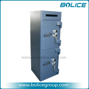 Double Door Burglary Dual Lock Deposit Drop Safes pictures & photos