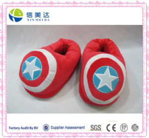 Cartoon Style Design Indoor Plush Room Slipper pictures & photos