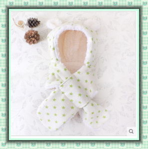 Winter Warm Organic Cotton Baby Scarf with Imitate Wool Made in China pictures & photos
