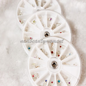 12 Styles Nail Art Dangles Gems Decoration in Wheel (M07)