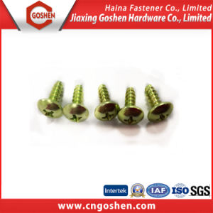 Green Plated Carbon Steel Pan Head Machine Screw (M4X6) pictures & photos