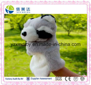 Funny Children Toy Plush Raccoon Hand Puppet Kids Educational Toy pictures & photos