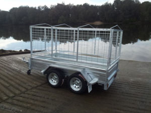Box Trailer Cargo Trailer Hot Galvanzied CCT-480W with Cage