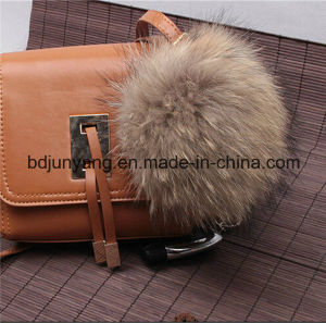 Factory Supply Cheap Raccoon Fur Pompom Key Chain pictures & photos