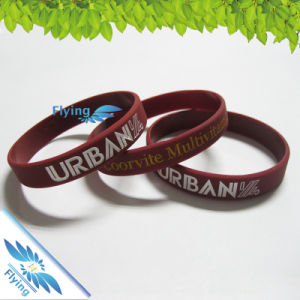 Promotion Silicone Wristbands with Name/Logo/Slogan in Debossed/Screen Print/Embossed Flying