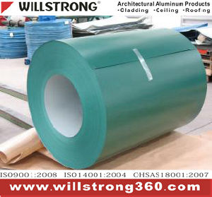 Willstrong Green Color Aluminum Coil pictures & photos