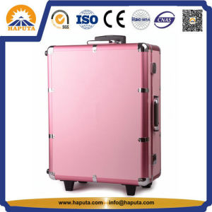 Aluminum Cosmetic Trolley Makeup Case with Legs (HB-3503) pictures & photos