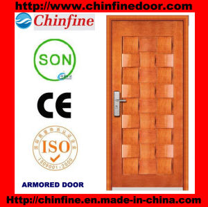 2017 New Arrival Steel-Wood Armored Doors (CF-M014) pictures & photos