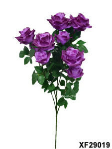 Artificial/Plastic/Silk Flower Single Stem of Rose with 5 Branches (XF29019) pictures & photos