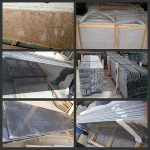 Cheap Chinese Rough Edge Polished Surface Granite Slab pictures & photos