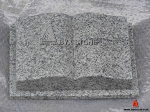 Viscount White Granite Book Shape Headstones/Tombstones pictures & photos