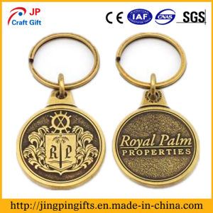 Antique Gold Plated Metal Custom Keychain pictures & photos