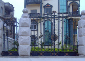 2016 Decorative Main Wrought Iron Gate Design for Villa pictures & photos
