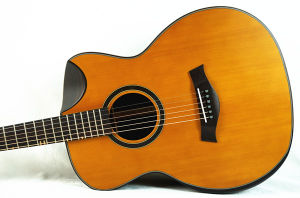 Chinese Factory Solid Top Acoustic Steel String Guitar Sg02crn-40 pictures & photos
