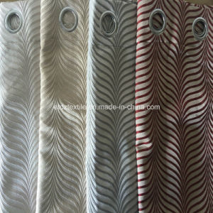 2016 New 100% Polyester Shrinkage Jacquard Window Curtain pictures & photos