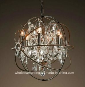 Earth Chandelier Lamp with Crystal Beads (WHG-804) pictures & photos