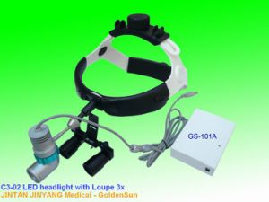 Surgical LED Magnifier Headlight 3X with Lithium Battery pictures & photos