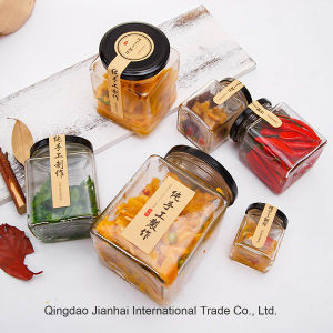 Hand-Made Jam and Pickles Glassware Food Storage Bottles pictures & photos