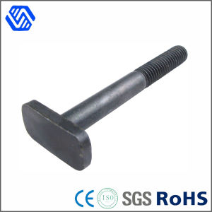 Flat Heads Black Carbon Steel Helf Thread T Bolt pictures & photos