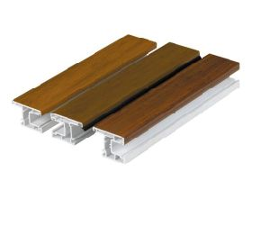 Wooden Color Good Quality UPVC Profile pictures & photos
