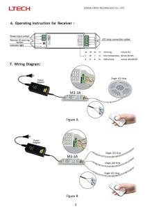 2.4G RF Remote LED Controller Color Circle M5 Work with M4-5A for Dimming pictures & photos