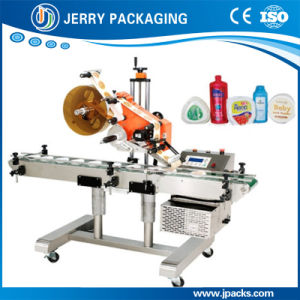 High Speed Horizontal Automatic Food Top-Sided Bottle Sticker Label Machine pictures & photos