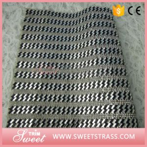Garment Shoes Accessories 24*40cm Adhesive Hot Fix Strass Crystal Rhinestone Sheet Mesh Sticker pictures & photos