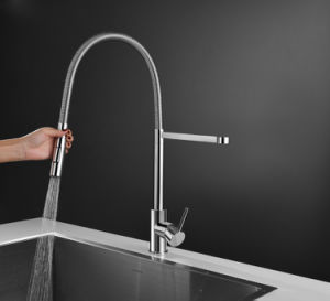 Modern Design Brass Spray Head Pull out Sink Mixer pictures & photos
