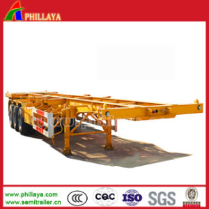 40ft Small Gooseneck Container Truck Trailer Skeletal Container Trailer pictures & photos