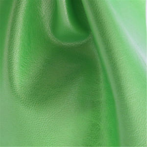High Performance Solvent-Free Furnishing Industry PU Coated Leather pictures & photos