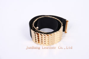 Lady′s Fashion Elastic Polyester Webbing Belt