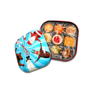 Square Retro Painting Food Tin Box (S001-V14) pictures & photos